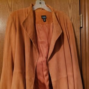 Eileen Fisher Goat Suede Lined Jacket Cinnamon